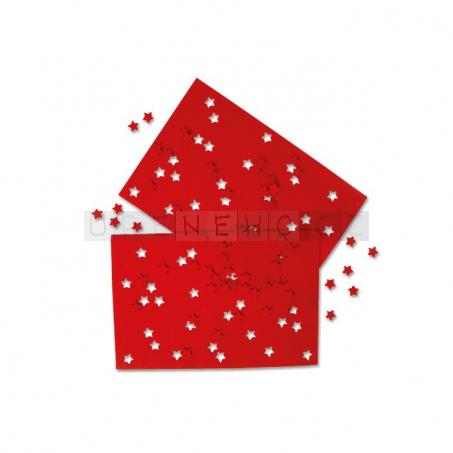 Dekorační plstěná sada červená, 2 kusy