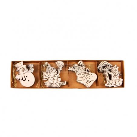 Vánoční dřevěné ozdoby, 24 kusů