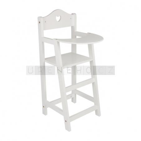 Židle pro panenky bílá lakovaná