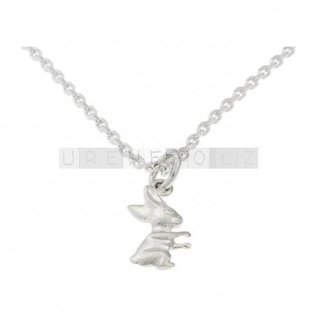 Náušenice a náhrdelník s přívěskem Zajíc (925 stříbro)