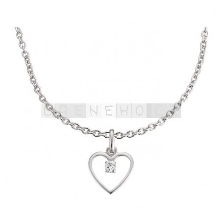 Náušenice a náhrdelník s přívěskem Srdce (925 stříbro)