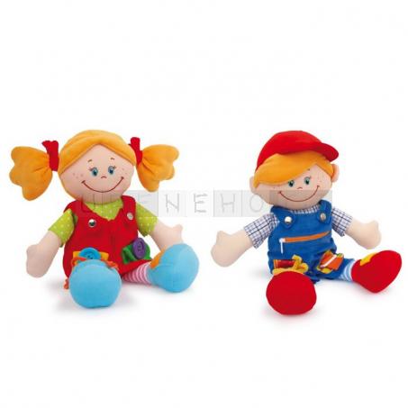 Textilní panenky Chiara a Massimo