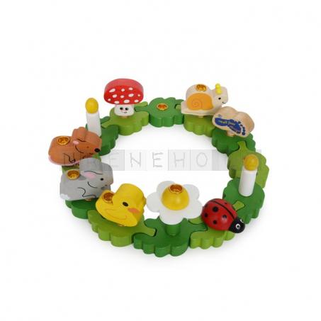 Narozeninový dort - Puzzle 12 držáky pro svíčky