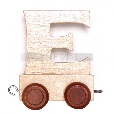 Písmenko vláček E