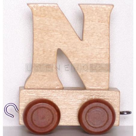 Písmenko vláček N