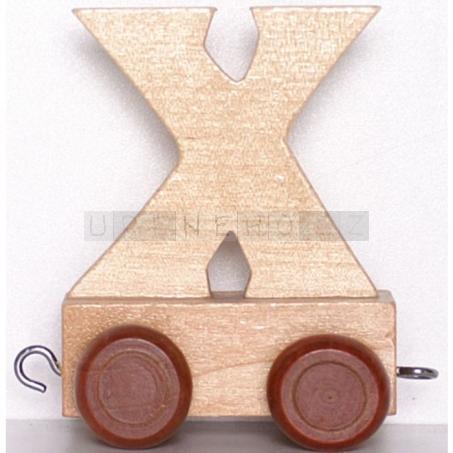 Písmenko vláček X