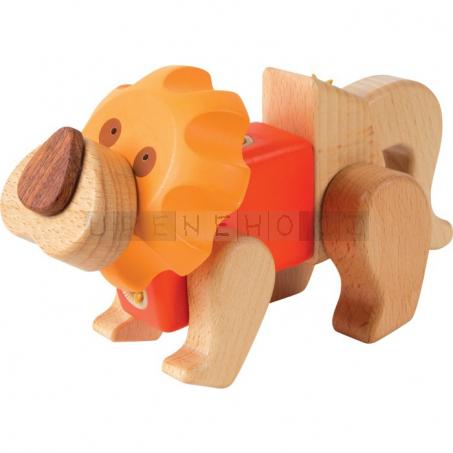 Dřevěná stavebnice Lev