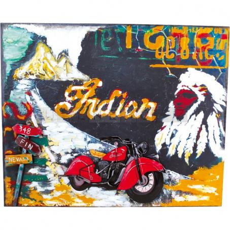 Plechová cedule motorka - dekorace Vintage