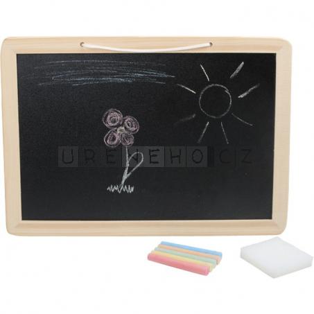 Kreslící tabule s barevnými křídami