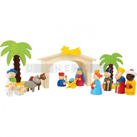 Dřevěný Betlém dětský