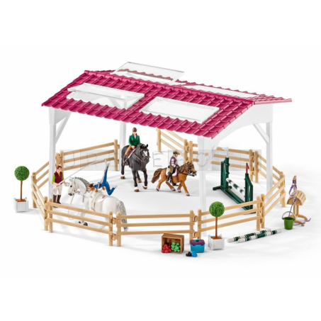 Schleich 42389 Jezdecká škola s jezdci na koních [42389]