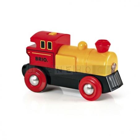BRIO Žlutá lokomotiva na baterie [33594]