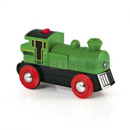 BRIO Elektrická lokomotiva zelená [33595]