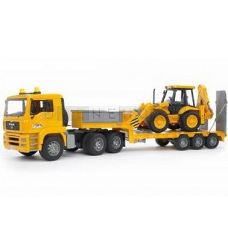 Bruder 2776 Nákladní auto s návěsem (tahač) MAN TGA + traktor JCB 4CX  [02776]