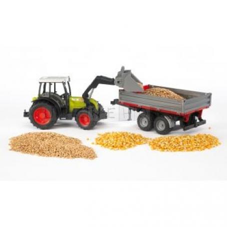 Bruder 2112 Traktor CLAAS Nectis+čelní nakladač+sklápěcí vůz [02112]