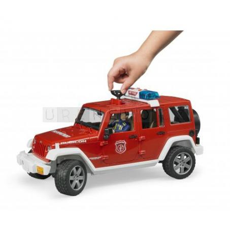 Bruder 2528 Jeep Wrangler Rubicon hasiči s figurkou [02528]
