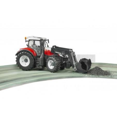Bruder 3181 Traktor STEYR 6300 Terrus s čelním nakladačem [03181]