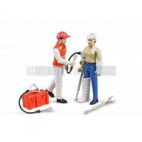 Bruder 62710 Záchranářský set figurka zdravotníka a pacienta [62710]