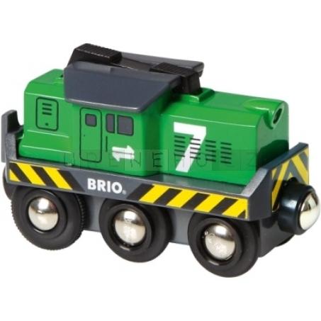 BRIO Lokomotiva elektrická zelená na baterie [33214]