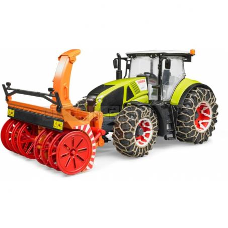 Bruder Traktor Claas Axion 950 se sněhovou frézou [03017]