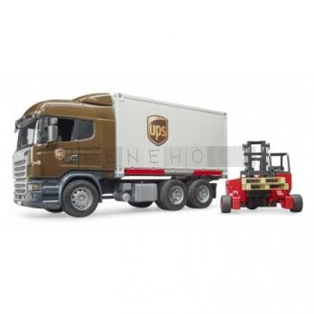 Bruder 3581 Logistická Scania R UPS s vysokozdvižným vozíkem [03581]