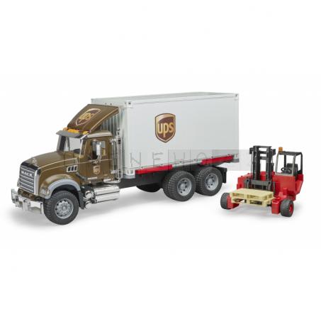 Bruder 2828 Mack Granite UPS s vysokozdvižným vozíkem [02828]