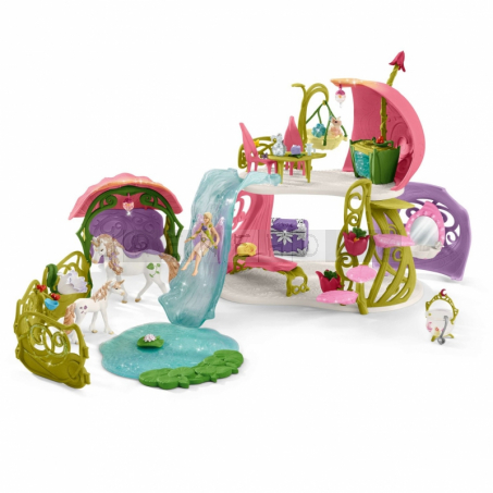 Schleich 42445 Bayala Glittering Flower House with Unicorns Lake and Stable [42445]