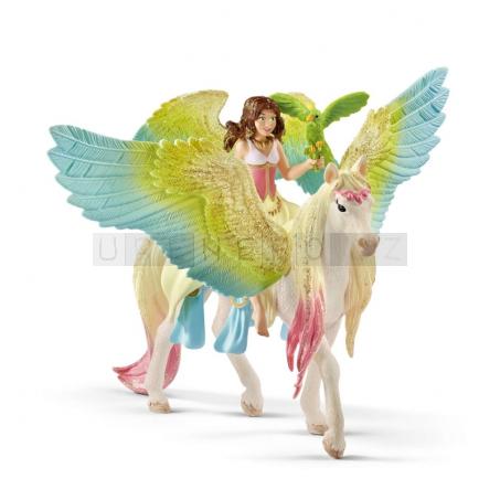 Schleich 70566 Bayala Fairy Surah with glitter Pegasus [70566]