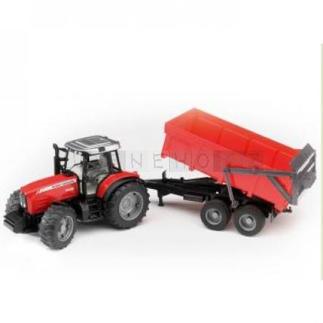 Bruder 2045 Traktor MASSEY FERGUSON 7480 s valníkem [02045]