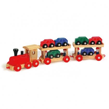 Vláčkodráha - přepravní vláček s auty