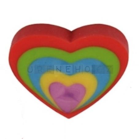 Mazací guma Srdce červené (2 ks)
