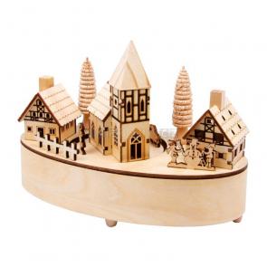 Vánoční dekorace - Hrací skříňka Vesnička