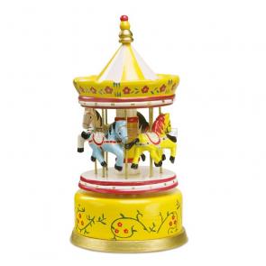 Hrací hodiny Kolotoč, žluté