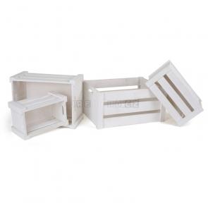 Dřevěné přepravky, bílé