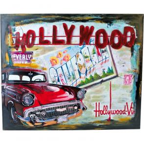 Plechová cedule Hollywood - dekorace Vintage