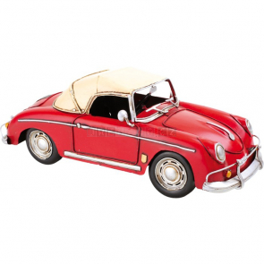 Červené sportovní auto - dekorace Vintage