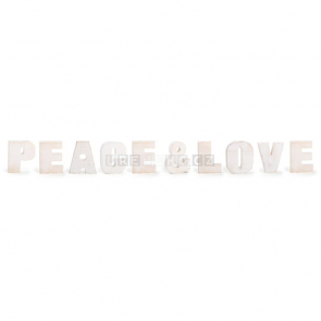 Peace & Love dekorace nápis