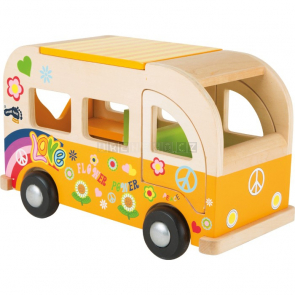 Dřevěný autobus Hippie