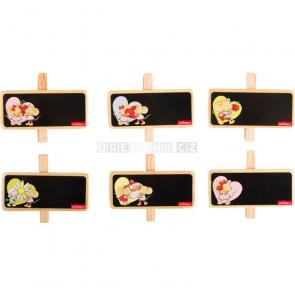 Lillebi Dekorace kolíčky k popsání, 12 kusů