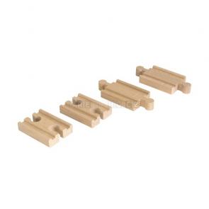 BRIO Krátké koleje rovné, 4 kusy [33393]