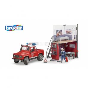 Bruder 62701 BWORLD Hasičská stanice Land Rover a hasič [62701]