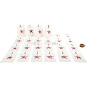 small foot Adventní kalendář papírové taštičky bílé [10209]