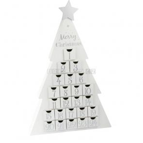 small foot Dřevěný adventní kalendář vánoční stromeček bílý [10540]