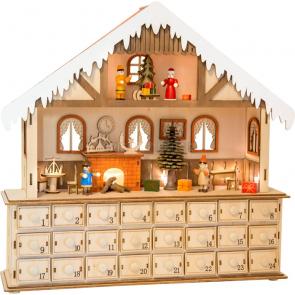 small foot Dřevěný adventní kalendář kouzelný vánoční dům [10546]