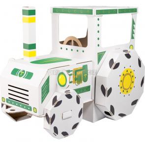 small foot Domeček Traktor z kartonu k vymalování [10016]