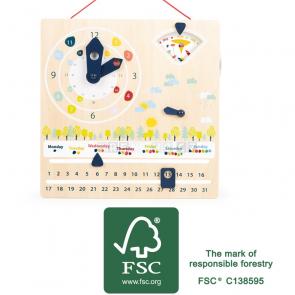 small foot Didaktický kalendář s hodinami [11625]