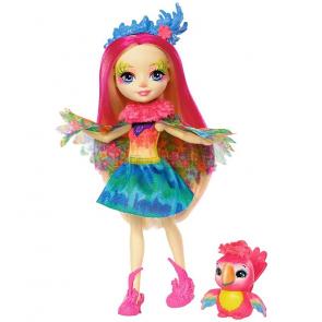 Mattel Enchantimals Panenka se zvířátkem Peeki Parrot a Sheeny FJJ21