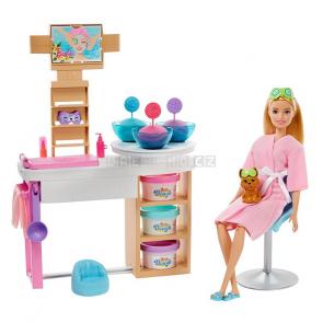 Mattel Barbie Salón krásy Herní set s blondýnkou GJR84