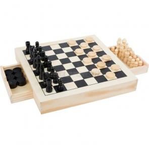 small foot Dřevěné kompaktní šachy 3v1 [11208]