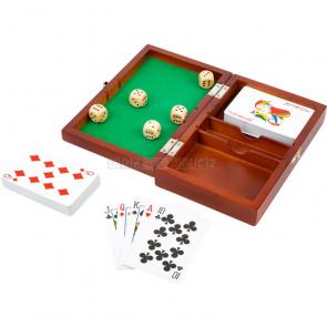 small foot Hrací kostky a karty v dřevěném boxu [11363]